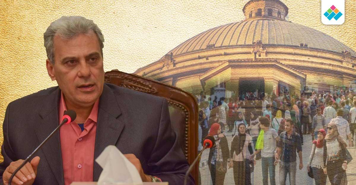 مهاجمة الإخوان و100 جنيه تذكار.. آخر يوم لجابر نصار تحت قبة القاهرة