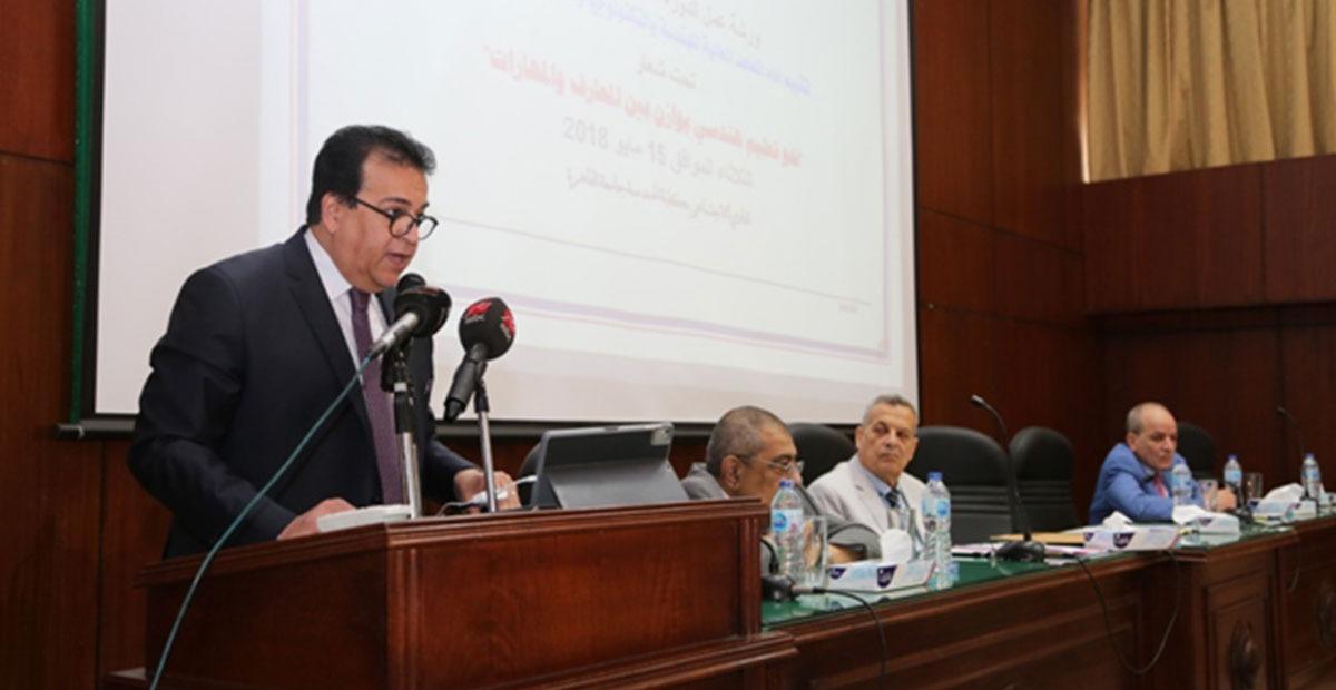 وزير التعليم العالى يعتمد تجديد تعيين قيادات إدارية بالجامعات