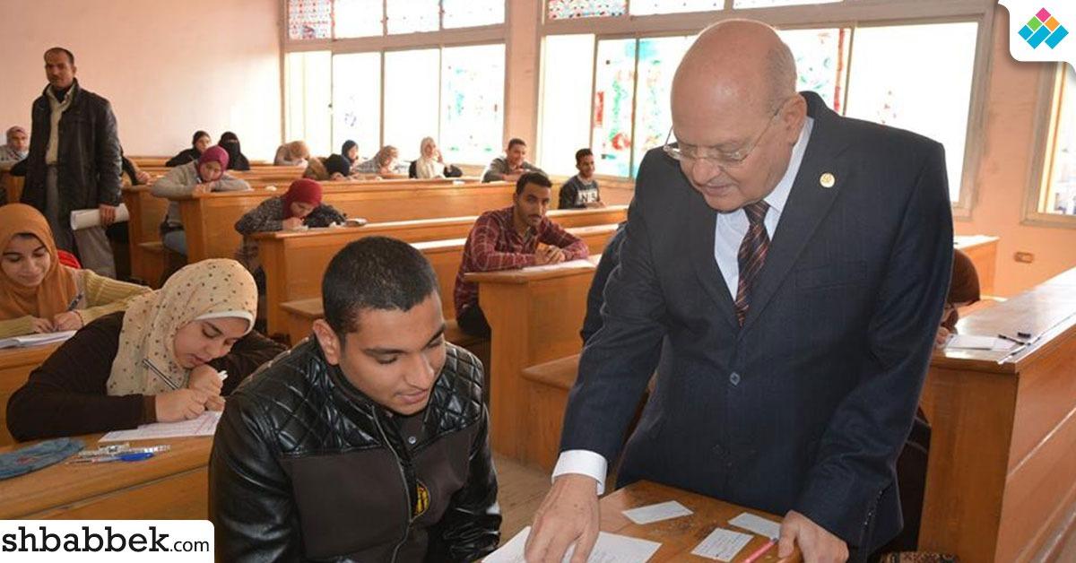 رئيس جامعة الزقازيق يتأكد من تطبيق إجراءات منع الغش في الامتحانات