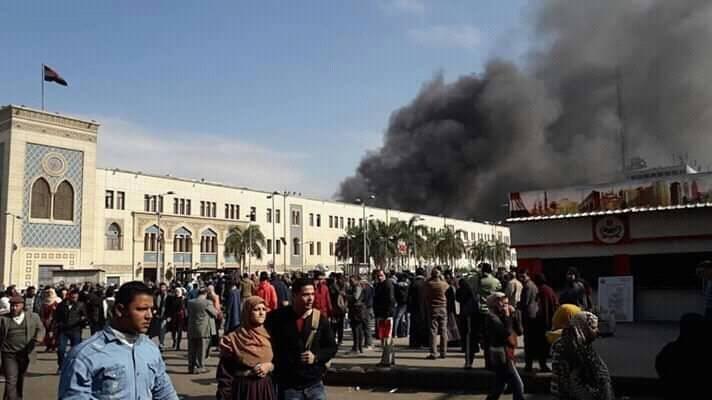 اللحظات الأولى لانفجار محطة مصر (فيديو)