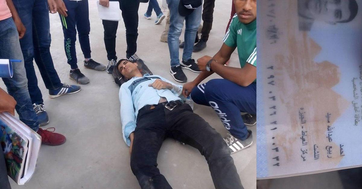 تعرض طالب بالأزهر لحادث سير أمام البوابة الرئيسية للجامعة (صور)