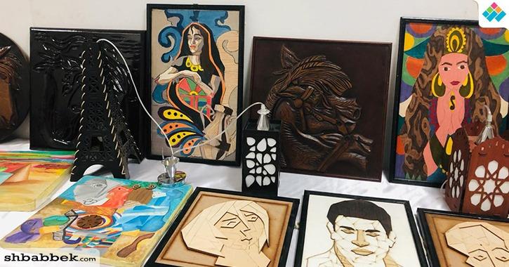 معرض فني لطلاب تربية نوعية على هامش مؤتمر جامعة بنها لتطوير التعليم