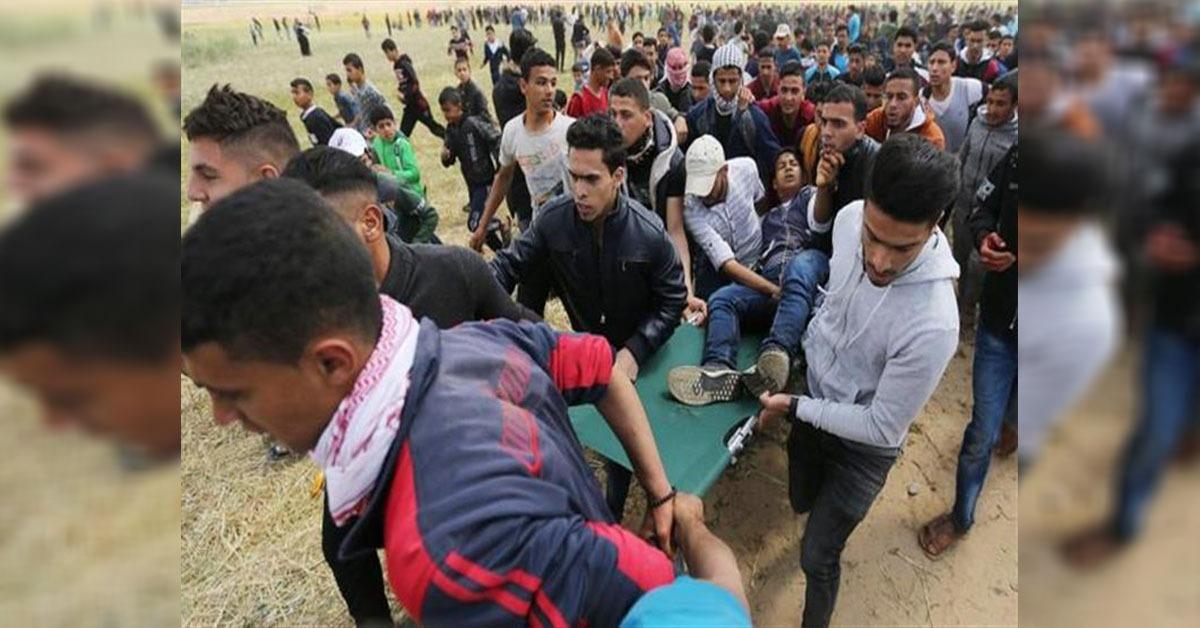 7 شهداء و550 مصابا بقطاع غزة في مواجهات مع قوات الاحتلال