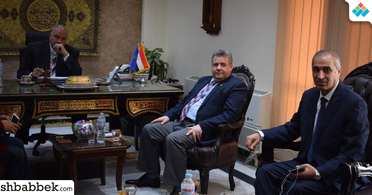 رئيس جامعة بنها يزور مدير أمن القليوبية للتهنئة بأعياد الشرطة