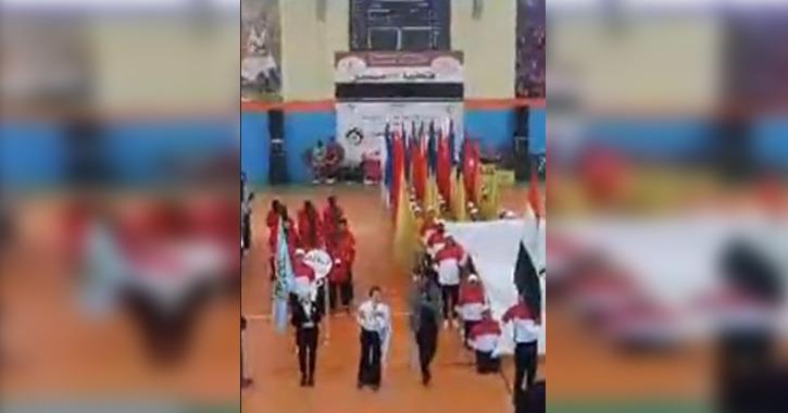 انطلاق طابور عرض الملتقى الأول للوافدين بجامعة المنصورة (فيديو)