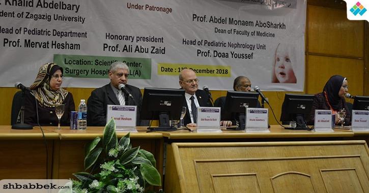 رئيس جامعة الزقازيق يفتتح أعمال فعاليات اليوم العالمي لأمراض كلى الأطفال (صور)