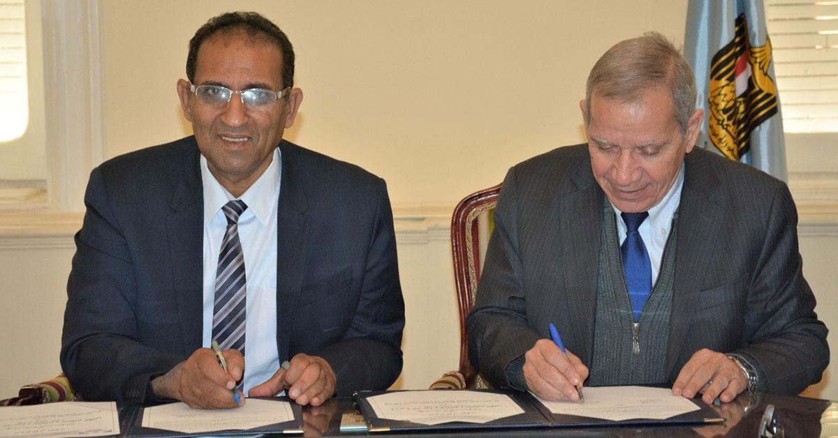 بروتوكول تعاون بين كلية هندسة الطاقة جامعة أسوان ووزارة التربية والتعليم