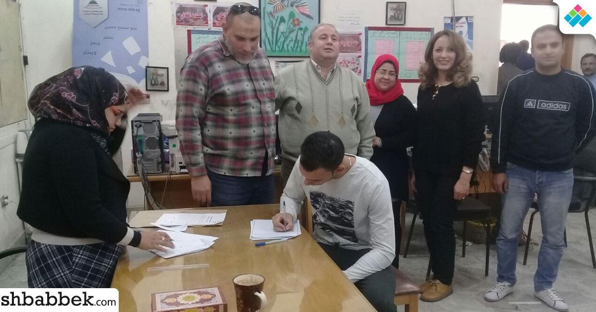 ضعف إقبال طلاب حاسبات حلوان على انتخابات اتحاد الطلاب (صور)