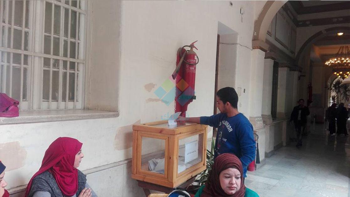 انتخابات الاتحاد.. هدوء في مرحلة الإعادة بكلية الحقوق جامعة القاهرة