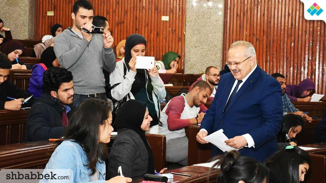 رئيس جامعة القاهرة: تطبيق نظام «البابل شيت» بنسبة 55% من الامتحانات