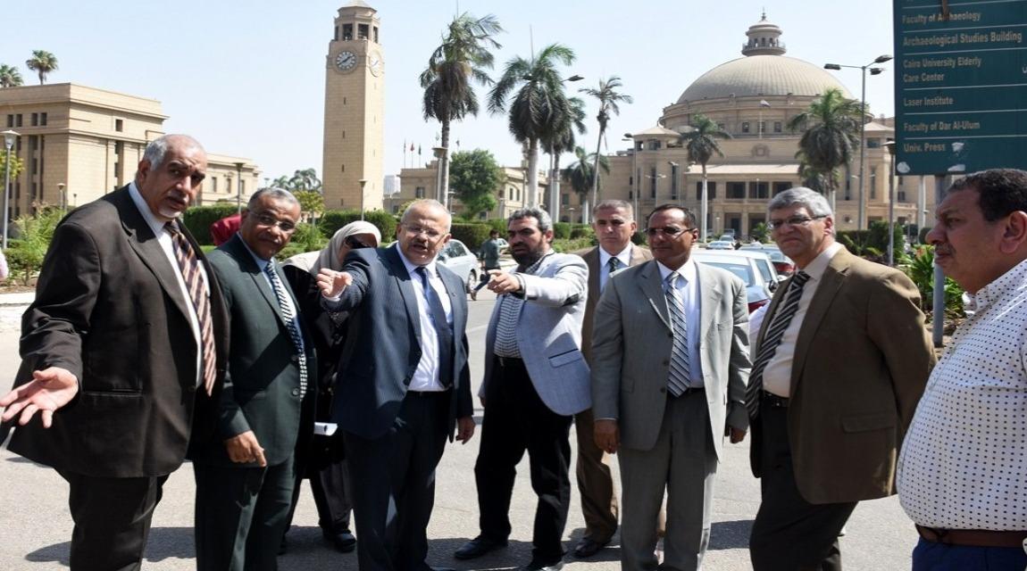 صور| رئيس جامعة القاهرة يتفقد استعدادات الكليات والمدينة الجامعية للعام الجديد
