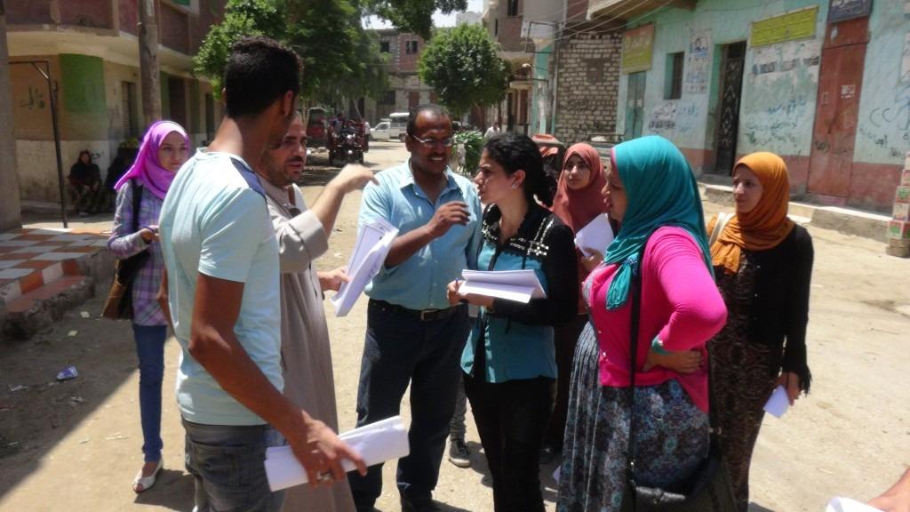 جامعة المنيا تدرب 40 طالب وطالبة على استطلاعات الرأي