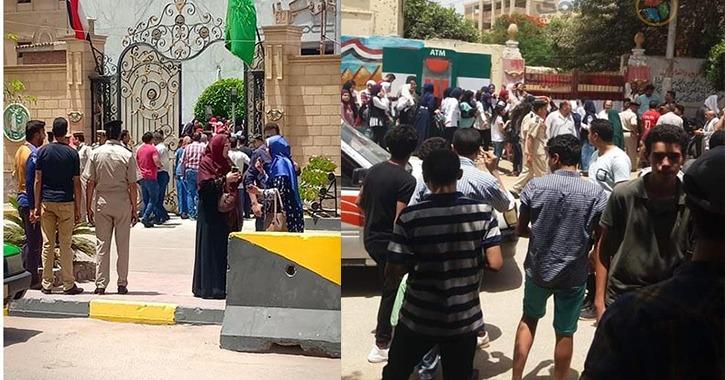 وقفات احتجاجية لطلاب أولى ثانوي في بني سويف والمنوفية