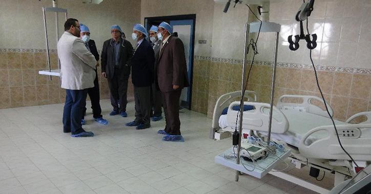 جامعة المنيا: افتتاح وحدة العناية المركزة لقسم جراحة الفم والوجه والفكين