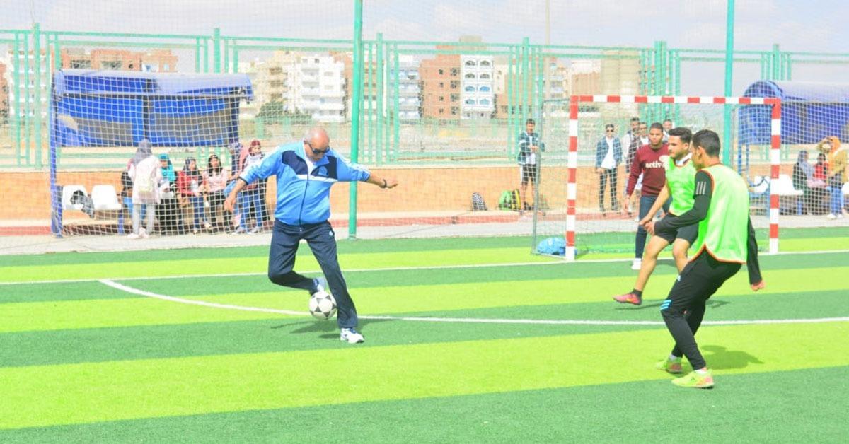 انطلاق أولى فعاليات مبادرة «رياضة من أجل الصحة» في جامعة السويس