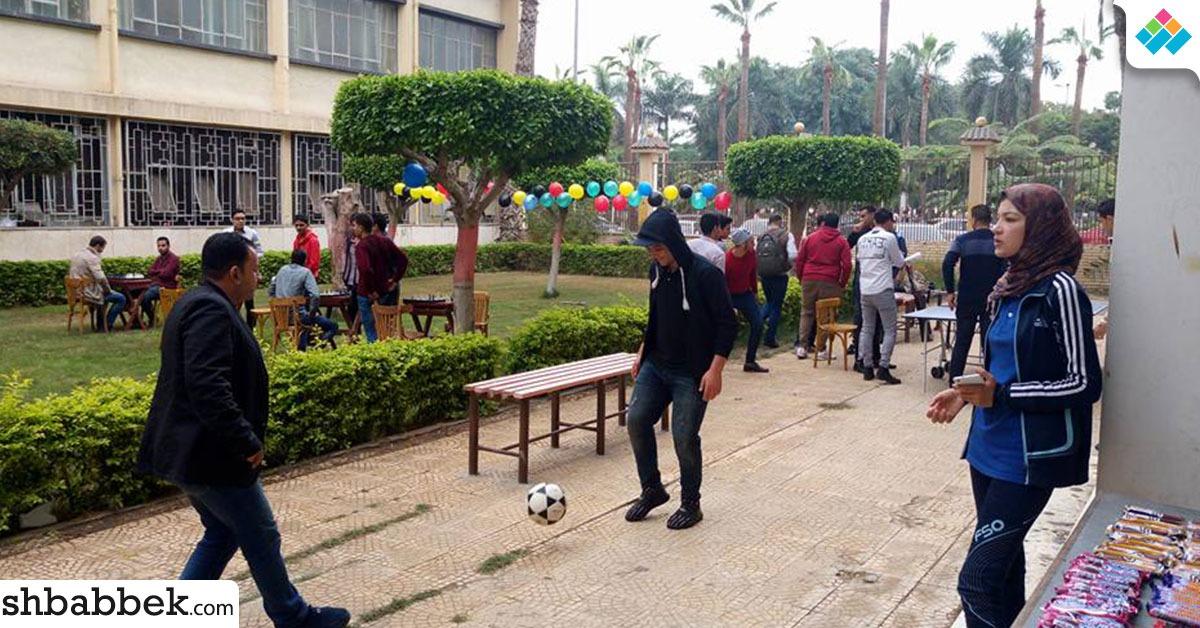 ألعاب لياقة بدنية وشطرنج.. يوم رياضي لطلاب هندسة المنصورة (صور)