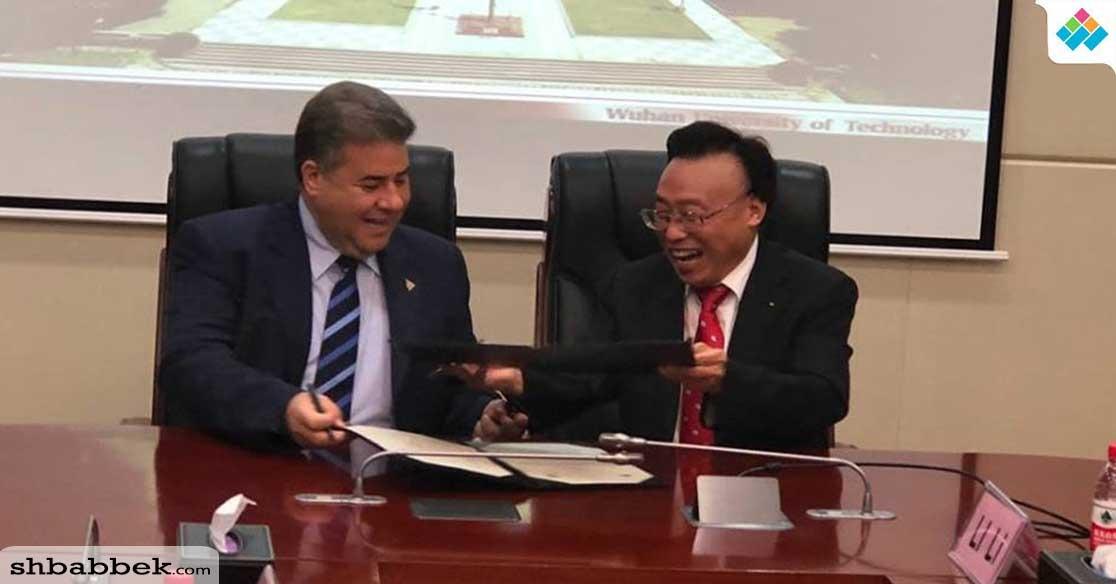 رئيس جامعة بنها يوقع الاتفاقية الثالثة مع جامعة ووهان الصينية