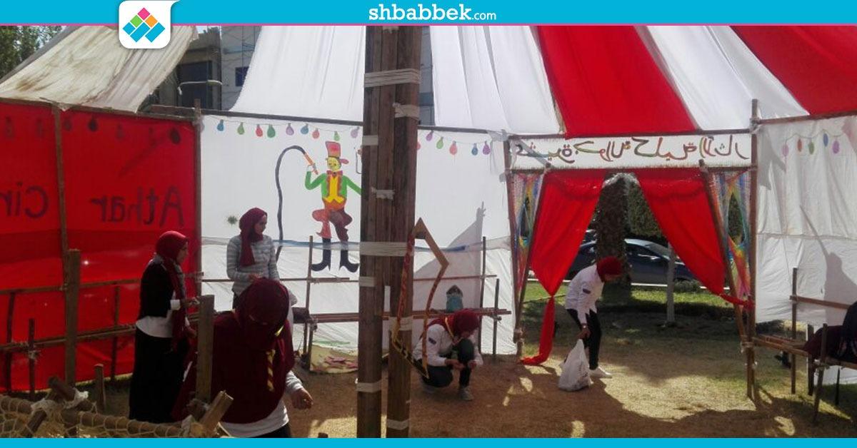 آثار القاهرة تستقبل الطلاب الجدد بأنشطة الجوالة (صور)