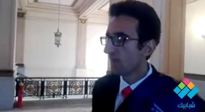 الطالب شادي محمد في أول تصريح له بعد توليه منصب رئيس اتحاد جامعة القاهرة