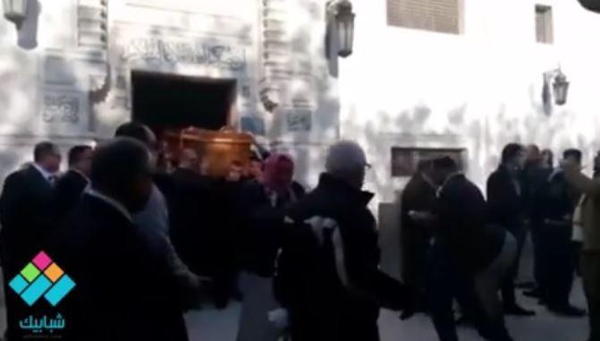 تشييع جثمان الطالبة شدوى محمد، التي توفيت في حادث رحلة صيدلة الإسكندرية على طريق نويبع