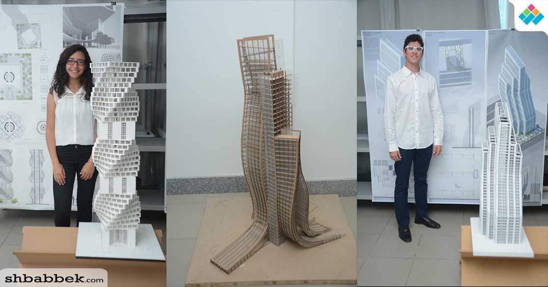 طلاب الجامعة الألمانية يبدعون في تصميم 39 مجسما لأبراج سكنية وتجارية