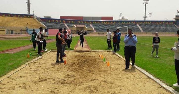 جامعة أسوان تحصل على المركز الأول في لعبة دفع الجلة وسباق 800 متر