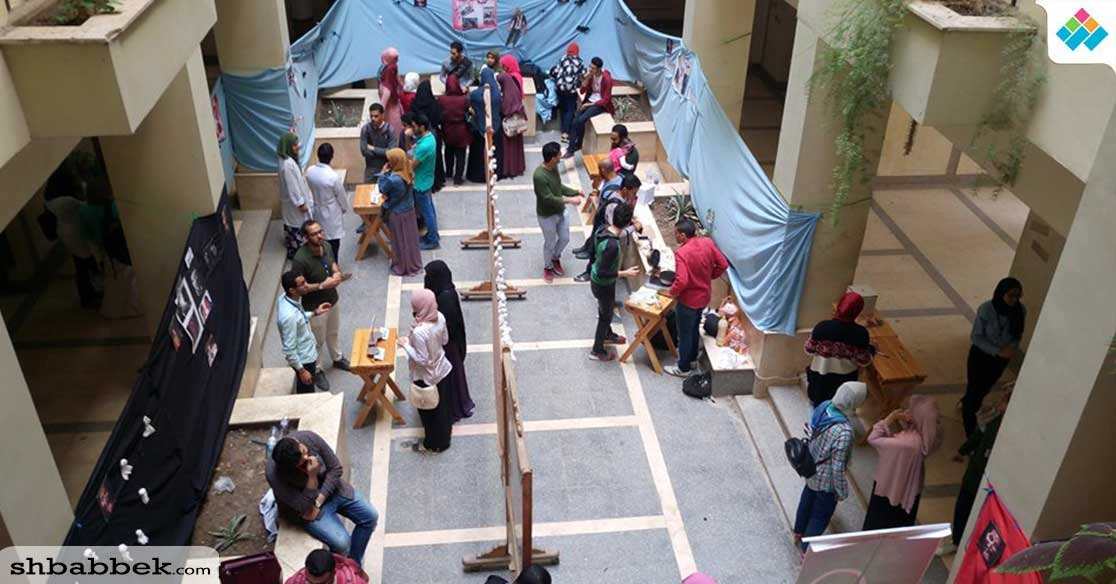 أسرة عكاز تحارب «التعصب» في إيفنت بجامعة المنصورة