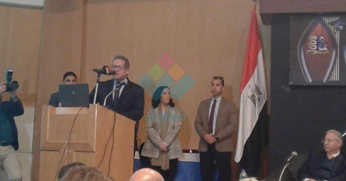 وزير الآثار يوبخ طلاب جامعة حلوان