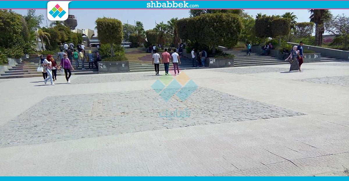 جامعة حلوان في أول يوم دراسة