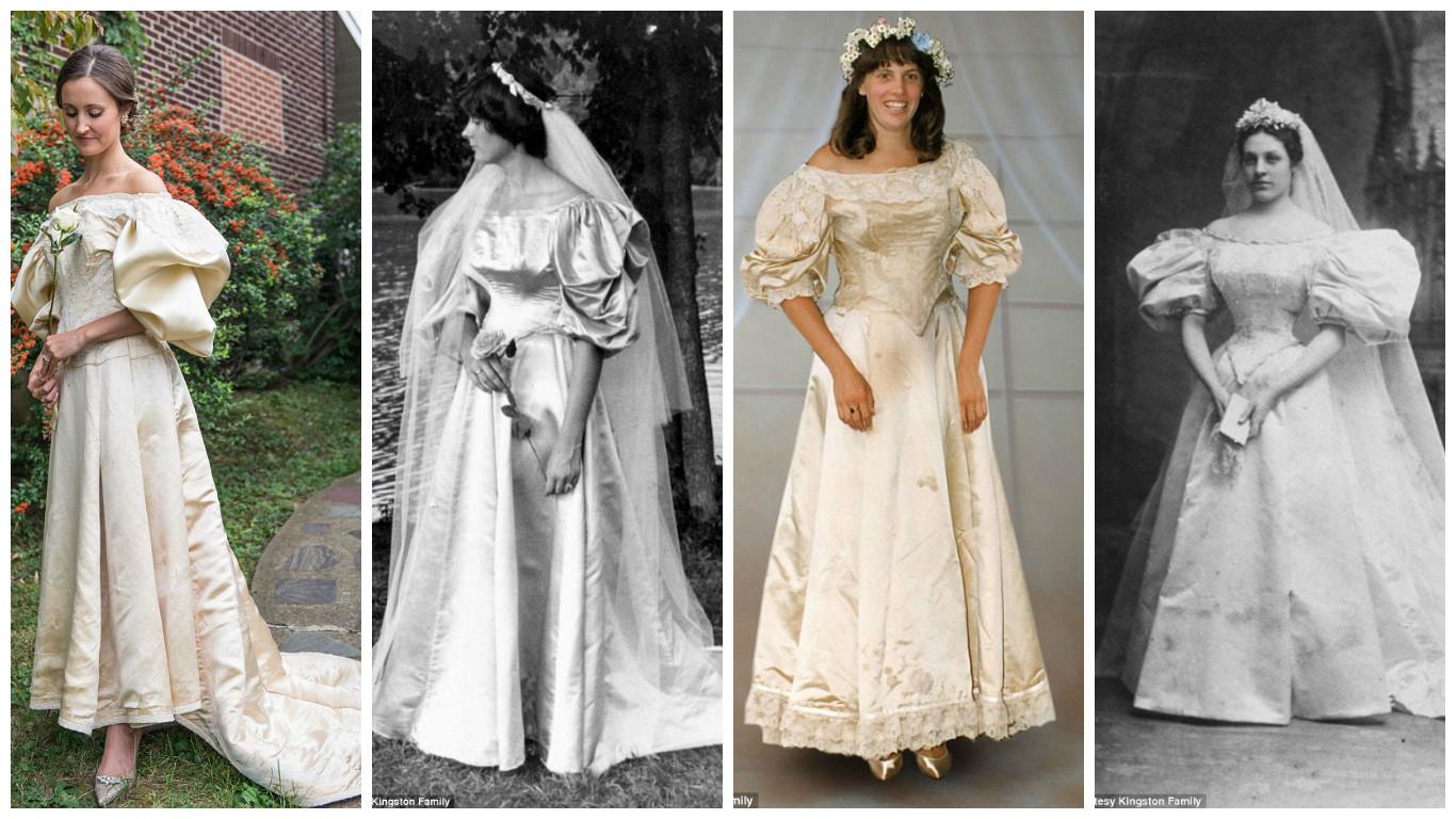 عائلة بنفس فستان الزفاف لمدة 120 عاما