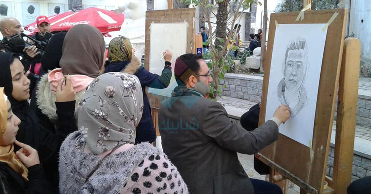 ورش «رسم فوري» في مهرجان كليات الفنون بالزمالك.. صور