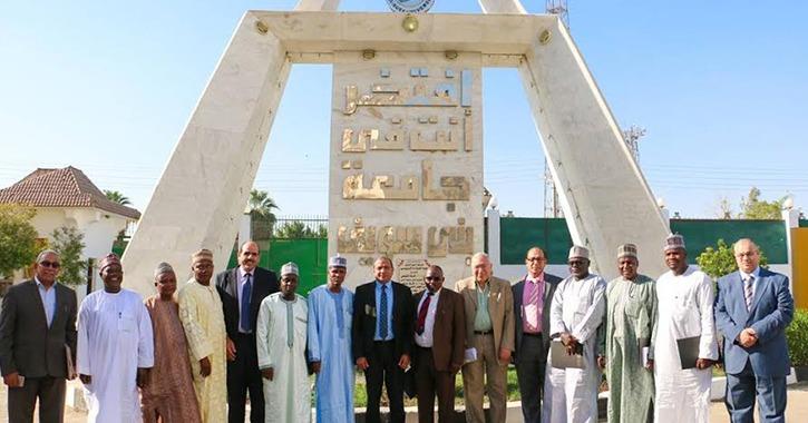 وفد نيجيري يزور جامعة بني سويف لبحث التعاون المشترك