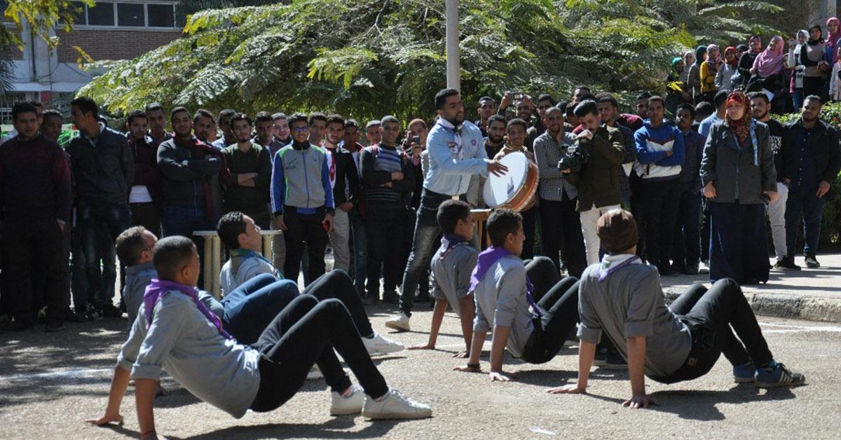 كلية الزراعة جامعة المنيا تنظم يوما رياضيا للطلاب