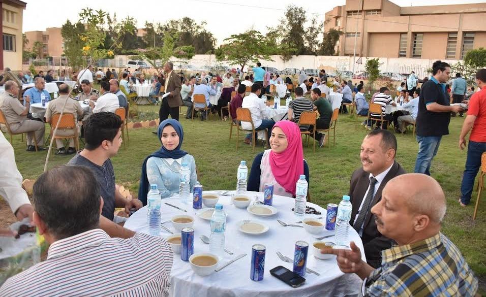 جامعة السادات تنظم إفطار جماعي لأعضاء هيئة التدريس