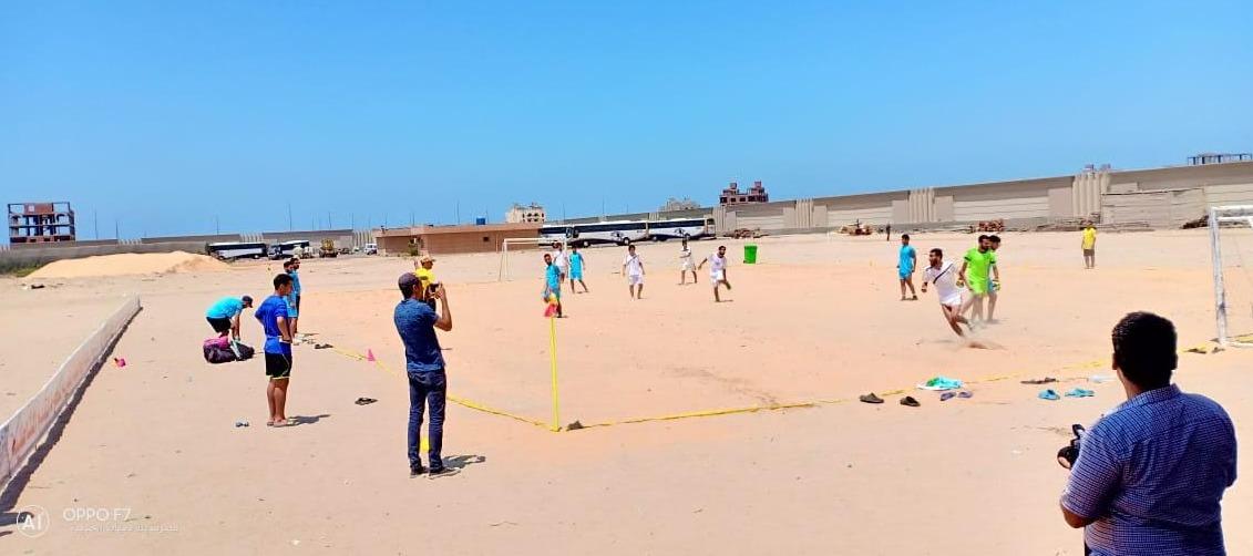 فوز جامعة المنصورة بالمركز الأول في بطولة كرة القدم الشاطئية