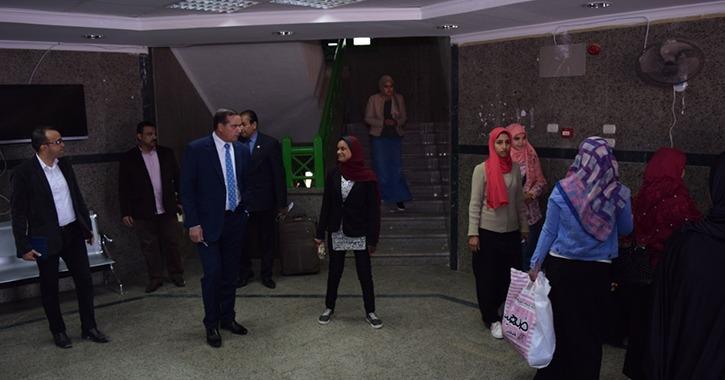مدن جامعة سوهاج تستقبل الطلاب مع بداية الفصل الدراسي الثاني