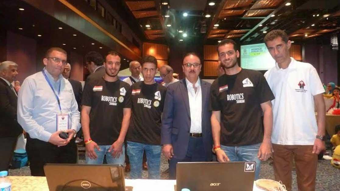 جامعة كفرالشيخ تحصد المركز الأول في البطولة العربية للروبوت