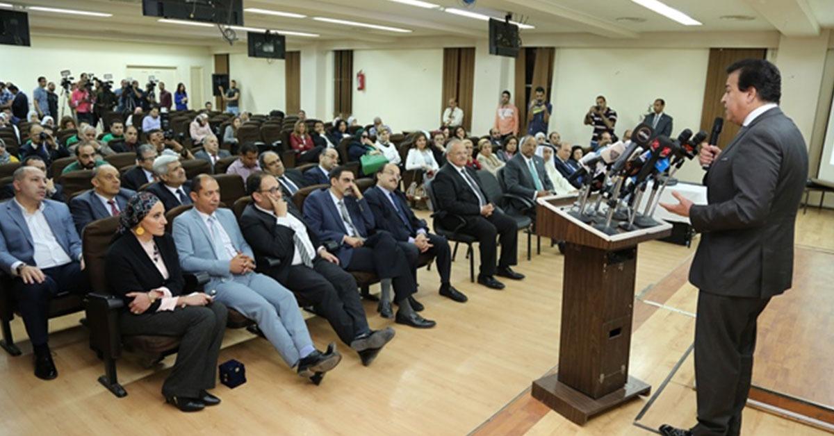وزير التعليم العالي يتفقد مستشفى أبو الريش الياباني للأطفال (صور)
