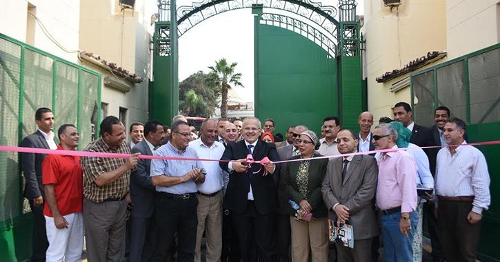 رئيس جامعة القاهرة يفتتح المرحلة الأولى من تجديدات المدينة