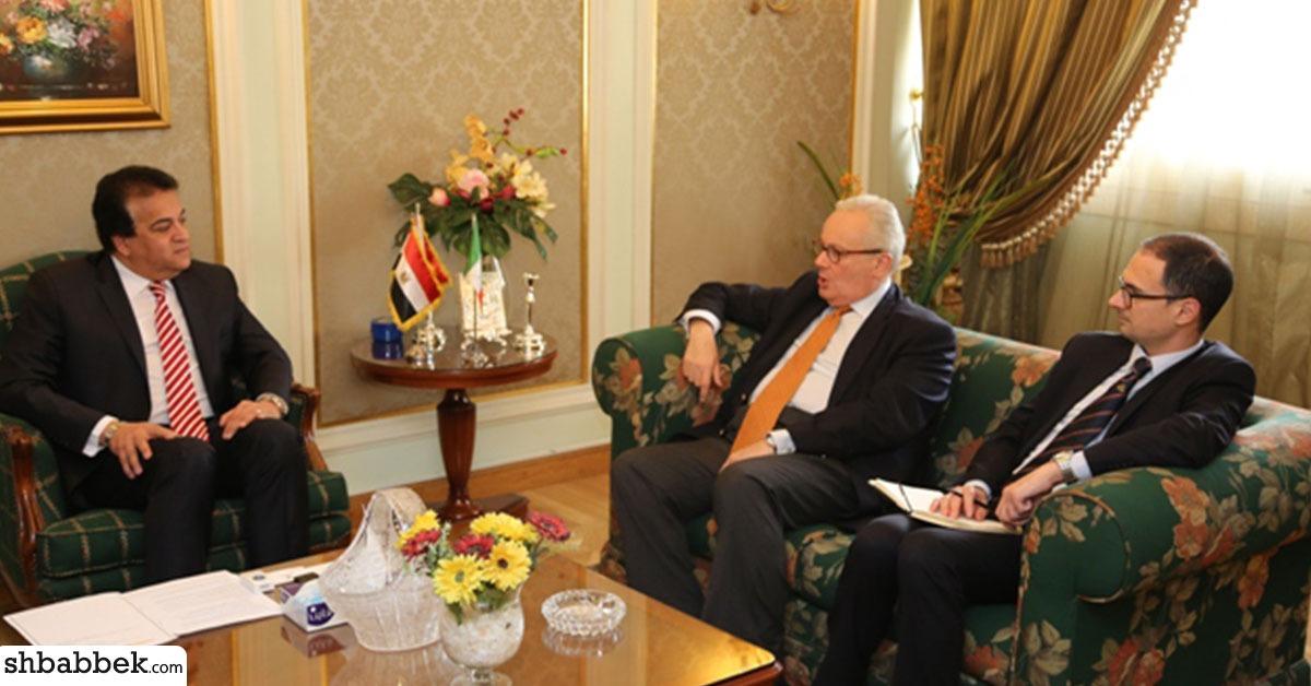 وزير التعليم العالي يستقبل السفير الإيطالي في القاهرة (صور)