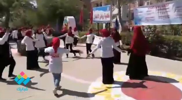 عروض لطالبات رياض أطفال جامعة أسيوط ضمن احتفالات العام الدراسي الجديد