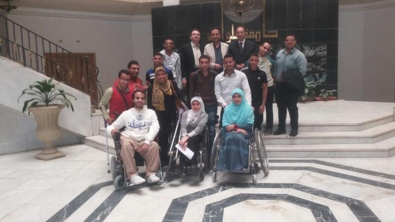 صور| وفد «التعليم العالي» يزور جامعة حلوان لتقييم ذوي الاحتياجات الخاصة