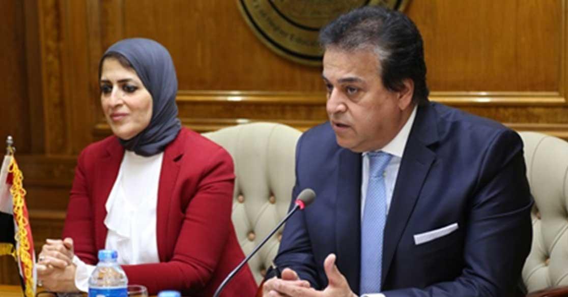 وزير التعليم العالي والصحة يتفقان على خطة مشتركة للعمل للنهوض بالمنظومة الصحية (صور)