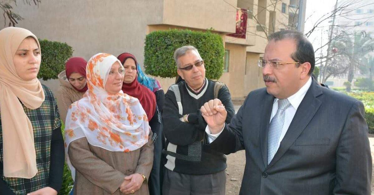 رئيس جامعة طنطا يتفقد المدن الجامعية