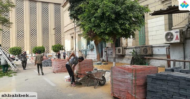 استمرار أعمال التجديدات في جامعة القاهرة «صور»