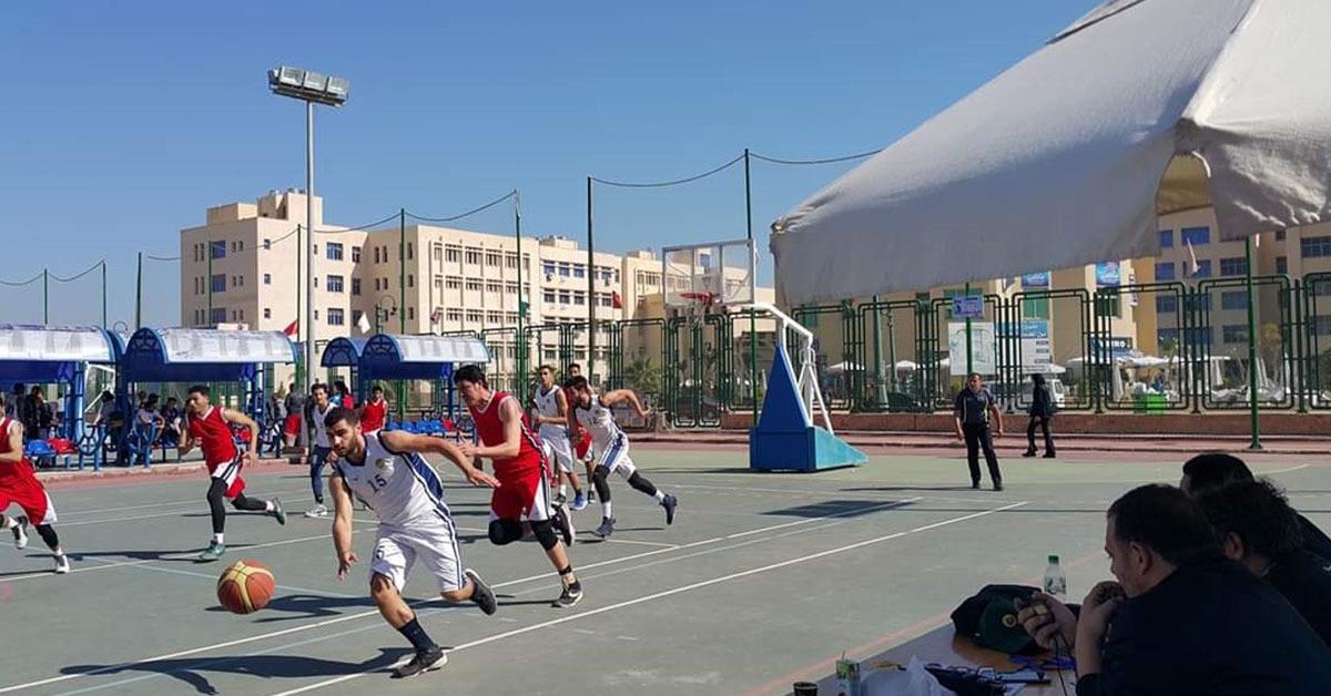 فوز جامعة طنطا بالمركز الثالث في منافسات كرة السلة بأسبوع شباب الجامعات