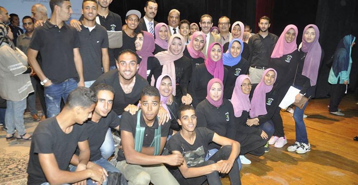 كلية الآداب تحصل على المركز الأول في مسابقات الأنشطة الطلابية بجامعة قناة السويس