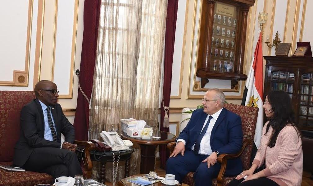 تعاون مشترك بين جامعة القاهرة وسفارة رواندا