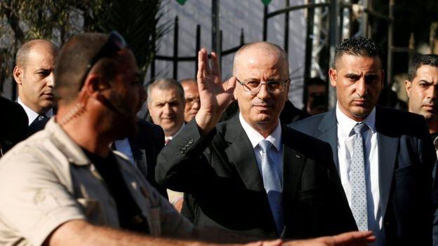 استهداف موكب رئيس الحكومة الفلسطينية في غزة