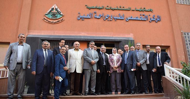 لجنة تقييم الجامعات المصرية تتفقد جامعة بنها